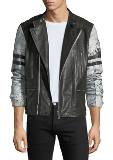 Belstaff Men's Ennis Hand-Wax Leather Jacket