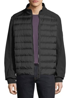 Belstaff Men's Harpford Soft-Shell Down Puffer Jacket