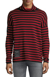 Belstaff Men's Laburnum Novelty Striped Wool Turtleneck Sweater