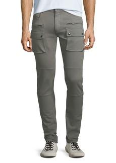 Belstaff Men's Polmont Garment-Dyed Denim Skinny Cargo Jeans