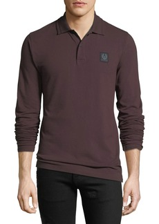 Belstaff Men's Selbourne Pique Long-Sleeve Polo Shirt