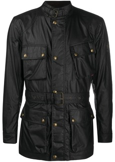 Belstaff multi-pocket belted jacket