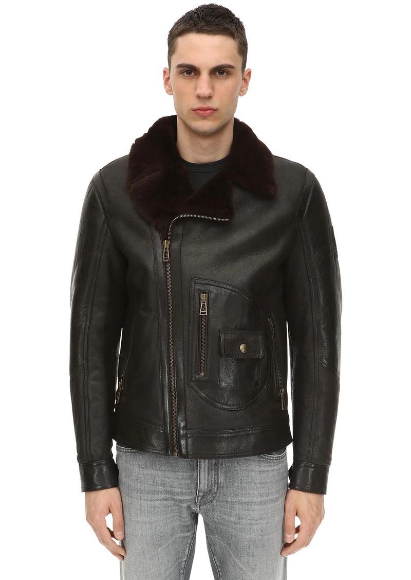 Belstaff New Danescroft Aviator Shearling Jacket