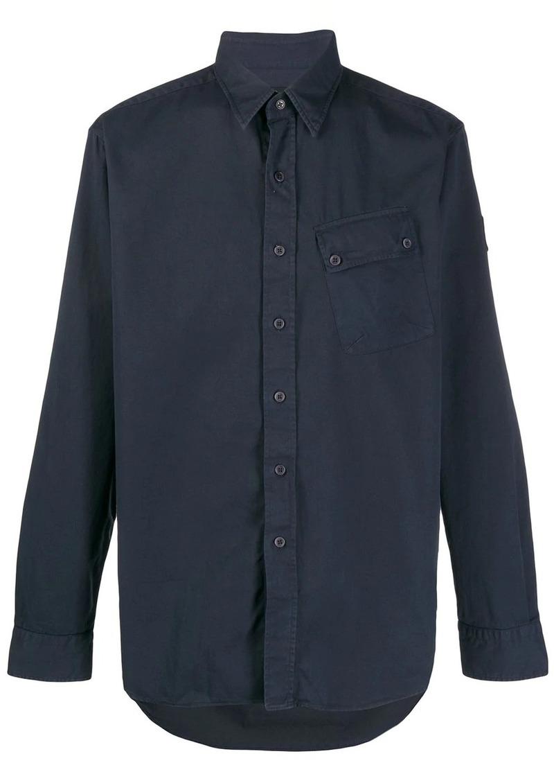 Belstaff plain long sleeve cargo shirt