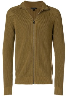 Belstaff ribbed zipped turtleneck sweater
