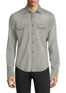 Belstaff Somerford Denim Button-Down Shirt