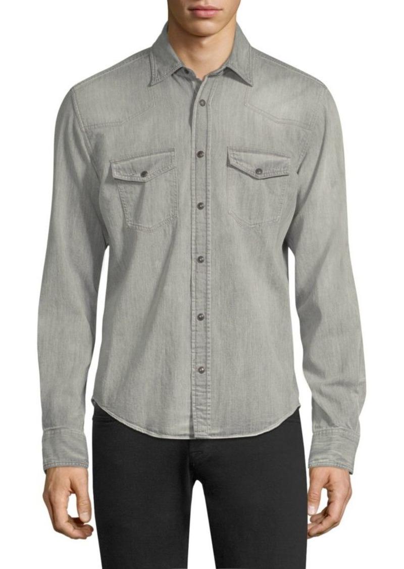 b2a79b40ee Belstaff Somerford Denim Button-Down Shirt