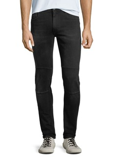 Belstaff Tattenhall Skinny Washed Denim Moto Jeans