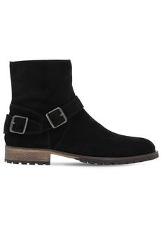 Belstaff Trialmaster Hand-waxed Suede Boots