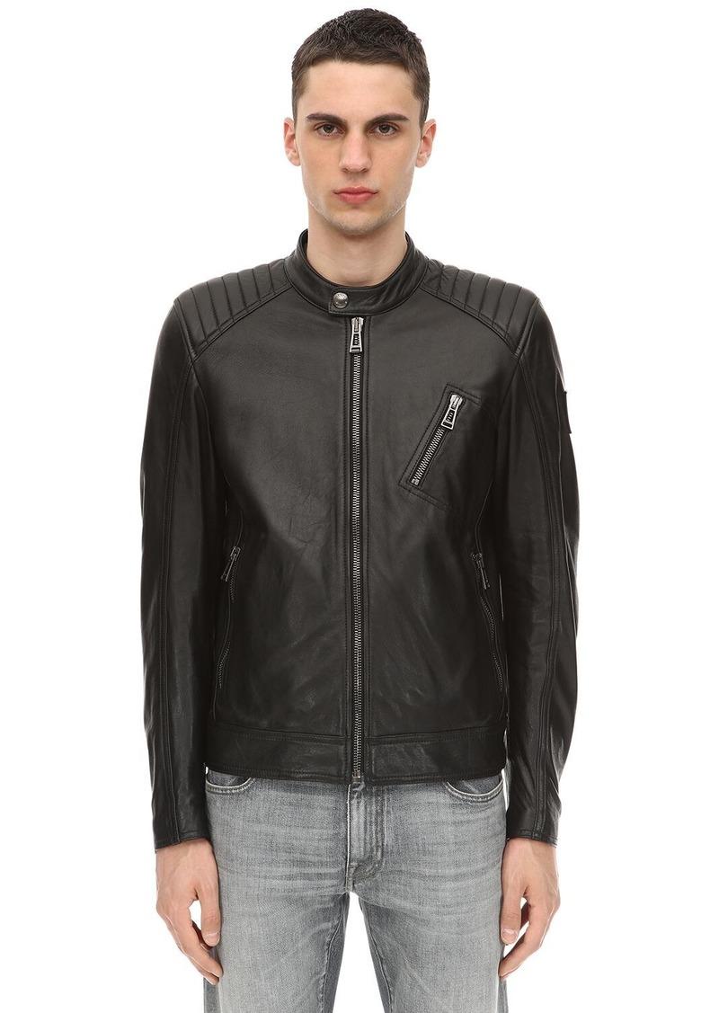 Belstaff V Racer Tumbled Leather Jacket