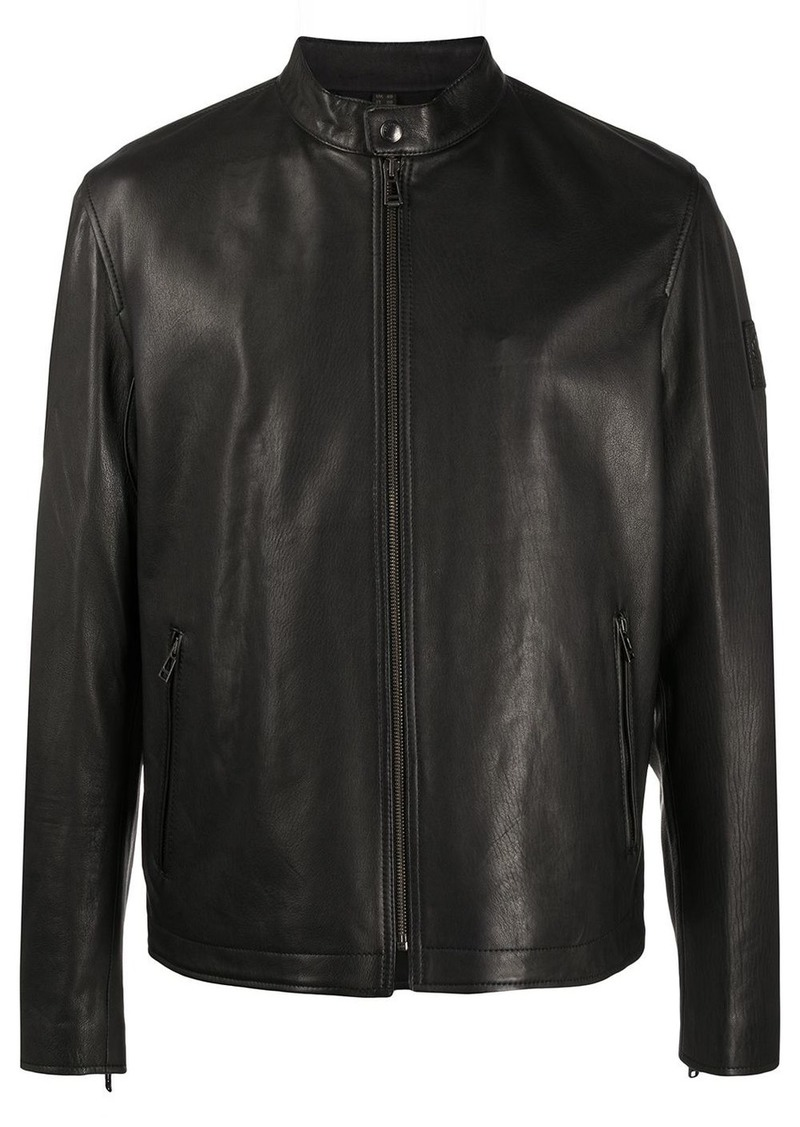 Belstaff zipped leather jacket