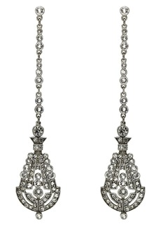 BEN-AMUN 'Deco' Crystal Drop Earrings