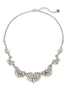 Ben-Amun Deco Crystal Silver Necklace