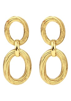 Ben-Amun Double Loop Drop Earrings