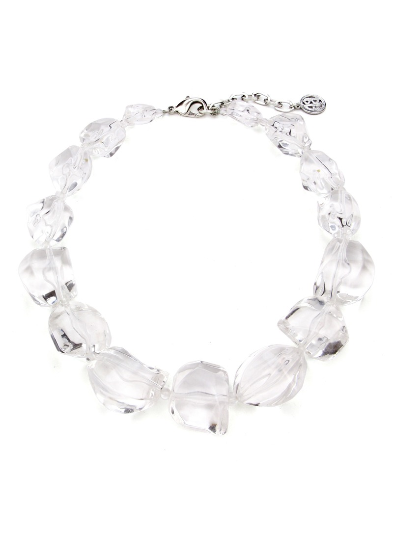 gallery alexis clear normal half product necklace link jewelry lyst bittar encrusted lucite