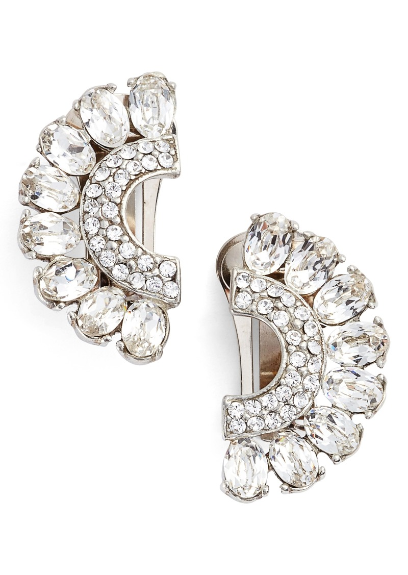 clip on earring rhinestone products plaza earrings