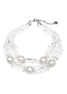Ben-Amun Imitation Pearl & Lucite® Necklace