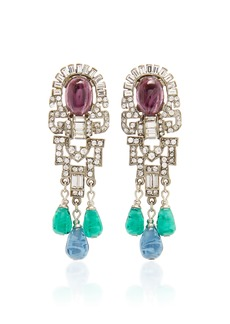 Ben-Amun Isabella Crystal and Glass Earrings