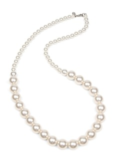 Ben-Amun Long Imitation Pearl Strand Necklace