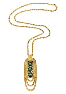 Ben-Amun Long Stone Pendant Necklace