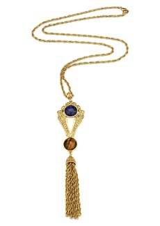 Ben-Amun Long Tassel Pendant Necklace