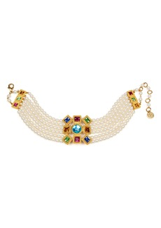 Ben-Amun Multicolor Crystal & Imitation Pearl Choker