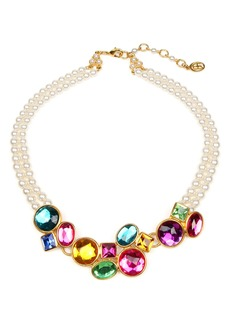 Ben-Amun Multicolor Crystal & Imitation Pearl Necklace
