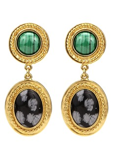 Ben-Amun Multicolor Drop Clip Earrings