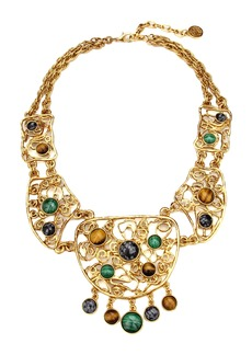 Ben-Amun Multicolor Golden Lace Bib Necklace
