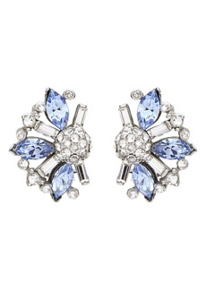 Ben-Amun Silver & Blue Crystal Earrings