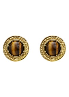 Ben-Amun Stone Stud Clip Earrings