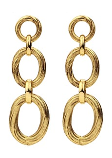 Ben-Amun Three-Link Drop Earrings