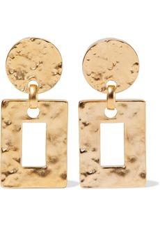 Ben-amun Woman Hammered 24-karat Gold-plated Clip Earrings Gold