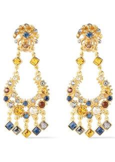 Ben-amun Woman 24-karat Gold-plated Crystal Earrings Gold