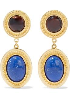 Ben-amun Woman 24-karat Gold-plated Stone Clip Earrings Gold