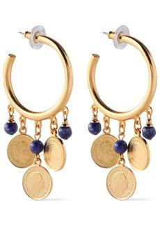 Ben-amun Woman 24-karat Gold-plated Stone Earrings Gold