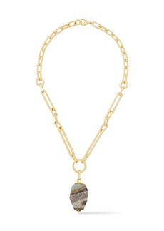 Ben-amun Woman 24-karat Gold-plated Stone Necklace Gold