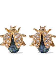 Ben-amun Woman 24-karat Gold-plated Swarovski Crystal And Stone Earrings Gold