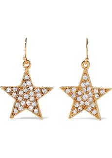 Ben-amun Woman 24-karat Gold-plated Swarovski Crystal Earrings Gold