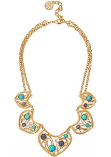 Ben-amun Woman 24-karat Gold-plated Turquoise And Stone Necklace Gold