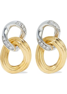 Ben-amun Woman Gold And Rhodium-plated Crystal Earrings Gold