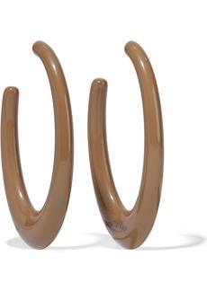 Ben-amun Woman Resin Silver-tone Hoop Earrings Taupe