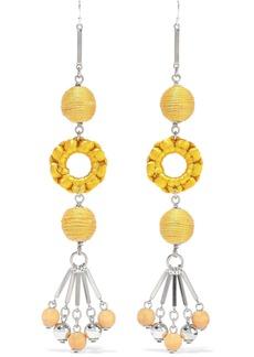 Ben-amun Woman Silver-tone Bead And Cord Earrings Yellow