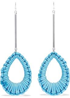 Ben-amun Woman Silver-tone Cord Earrings Turquoise