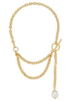 Ben-Amun Layered Pearl Lariat Necklace
