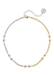 Ben-Amun Mixed Metal Ball Chain Necklace