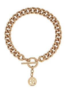 Ben-Amun Small Chain-Link Logo Necklace