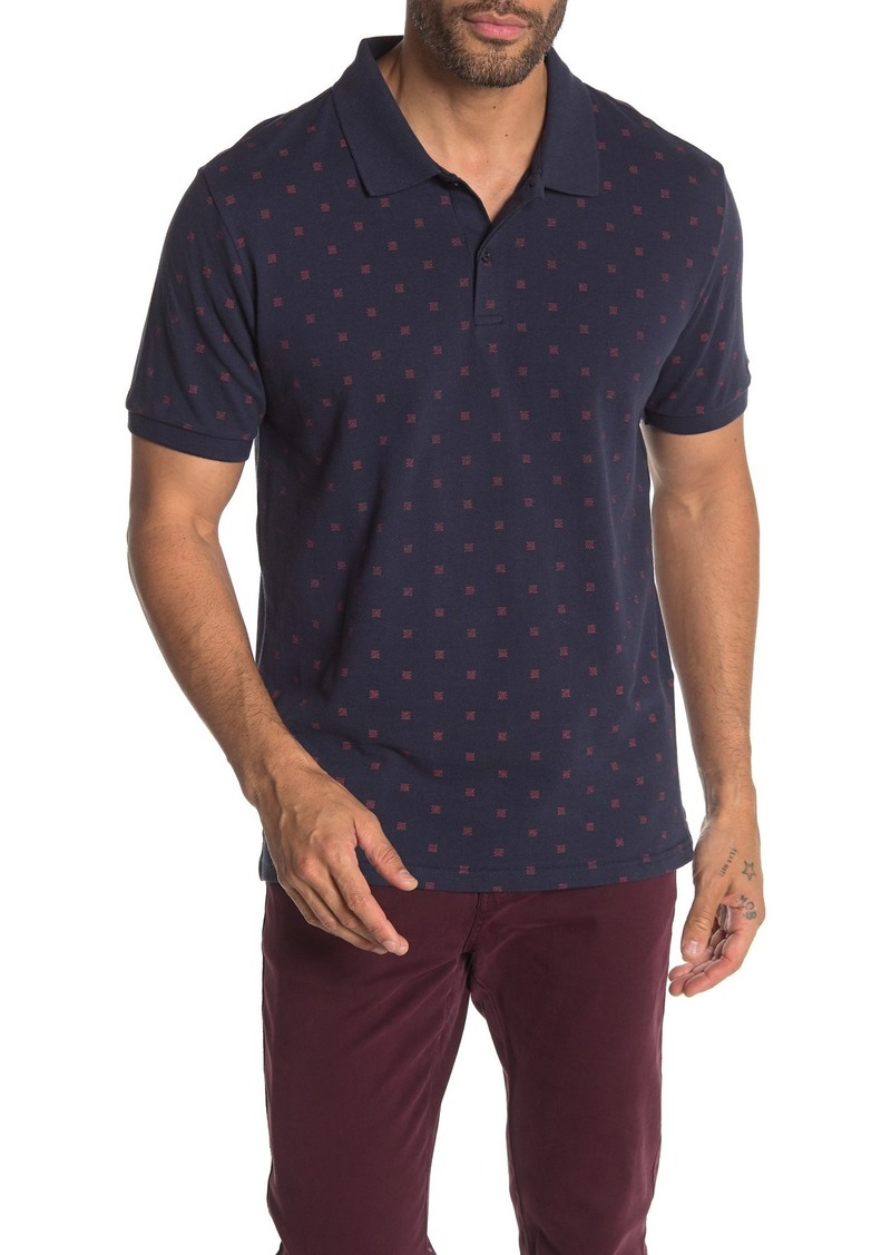Ben Sherman Allover Print Classic Fit Polo Shirt