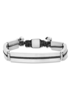Ben Sherman Adjustable Steel Bracelet