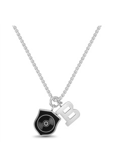 """Ben Sherman Enamel Shield and """"B"""" Charm Men's Necklace"""